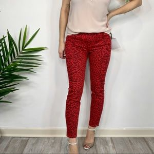 """NWT CURRENT/ELLIOT """"The Stiletto"""" red skinny jeans"""